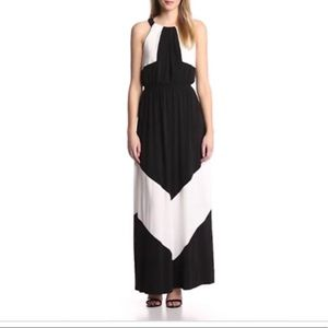 NWOT Colorblock Maxi Dress